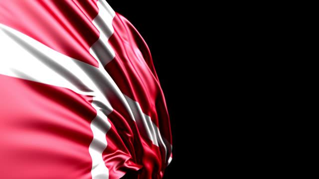 vídeos y material grabado en eventos de stock de bandera danesa hd, pal, ntsc, alfa incluido, bucle - danish flag