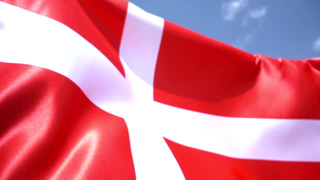 danish flag high detail - danish flag stock videos and b-roll footage