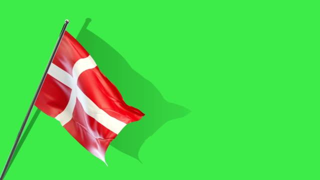 vídeos y material grabado en eventos de stock de levantamiento de bandera danesa - danish flag