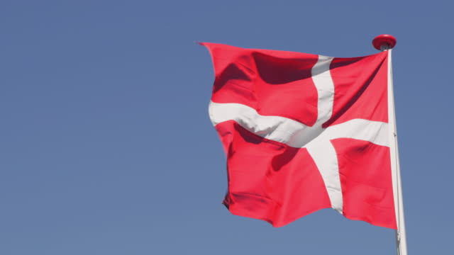 danish flag - flag stock videos & royalty-free footage