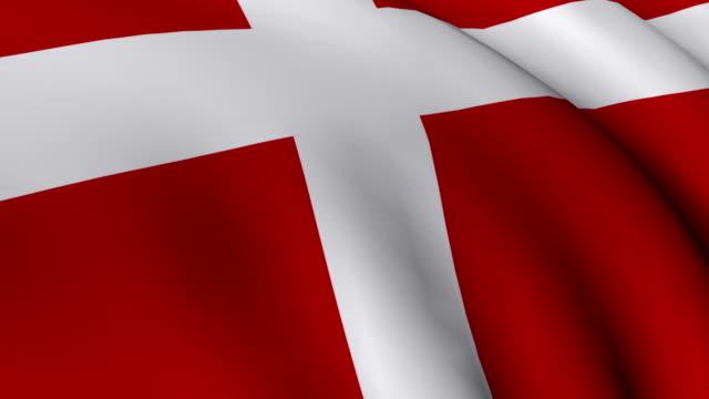 vídeos y material grabado en eventos de stock de cgi cu danish flag - danish flag