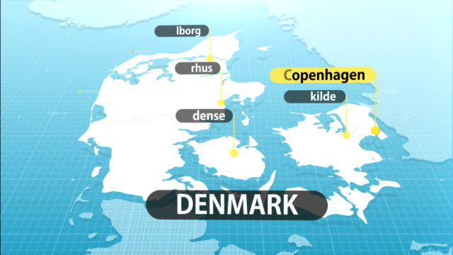 danish map - map stock videos & royalty-free footage