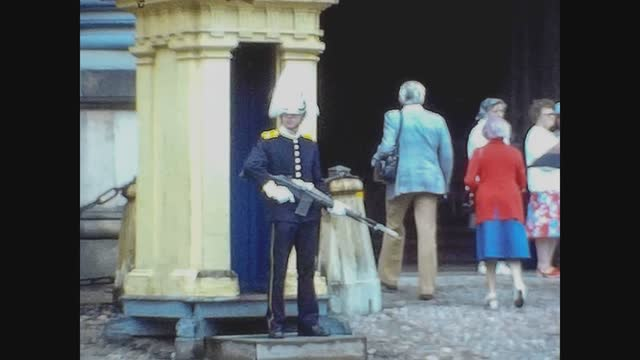 danish military on the street in 70's - shaky stock videos & royalty-free footage