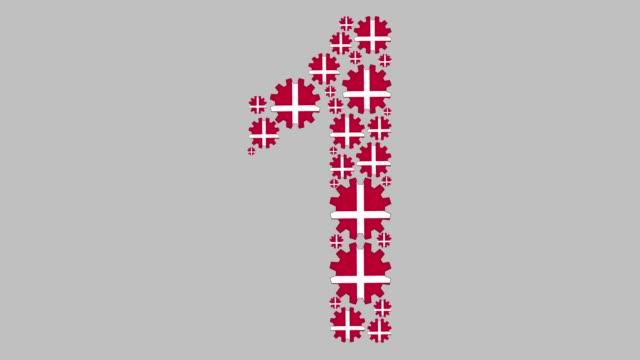 vidéos et rushes de danois numéro un - chiffre 1