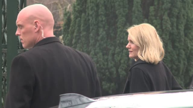 danish prime minister helle thorning schmidt arrives at the funeral of dan uzan a jewish man killed in a weekend shooting spree as questions mount... - oresund region stock videos and b-roll footage