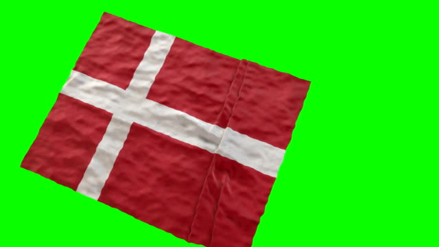 vídeos y material grabado en eventos de stock de bandera estadio danés. saludando en pantalla verde - danish flag