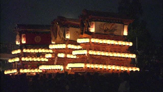 stockvideo's en b-roll-footage met danjiri festival in ehime, japan - commercieel landvoertuig