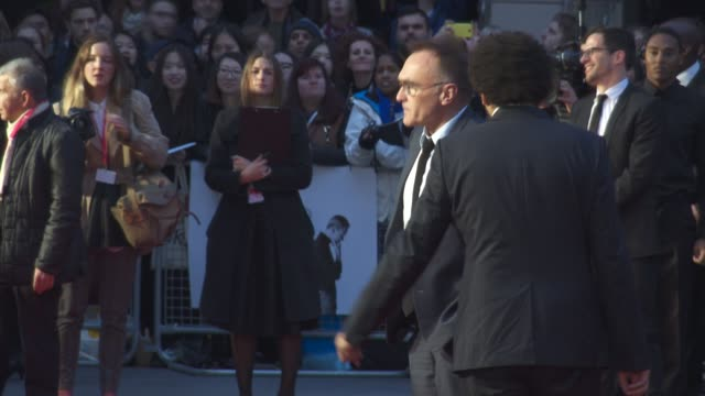 danny boyle at 'steve jobs' closing night gala bfi london film festival at odeon leicester square on october 18 2015 in london england - odeon leicester square stock videos and b-roll footage