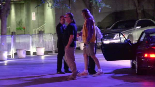 Danny Carey arrive for the first game of the Laker Season at Staples Center in Los Angeles in Celebrity Sightings in Los Angeles