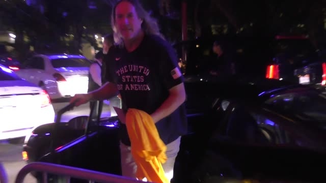 Danny Carey arrives at Lakers game in Los Angeles in Celebrity Sightings in Los Angeles