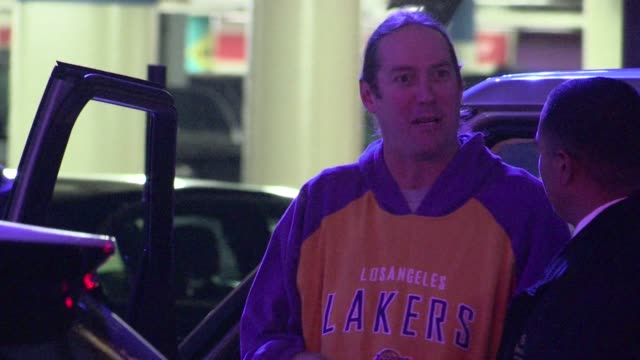 Danny Carey arrives at Staples Center in Los Angeles 03/30/12