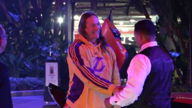 Danny Carey greets fans at Staples Center in Los Angeles 12/09/12
