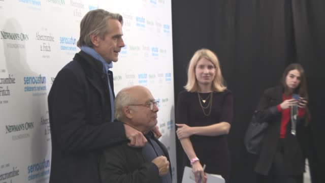 danny devito jeremy irons at seriousfun children's network hosts star studded gala to celebrate the legacy of paul newman at the roundhouse on... - studded stock videos and b-roll footage