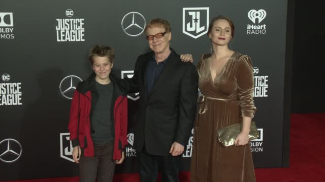 "danny elfman at the ""justice league"" world premiere at dolby theatre on november 13, 2017 in hollywood, california. - the dolby theatre stock videos & royalty-free footage"