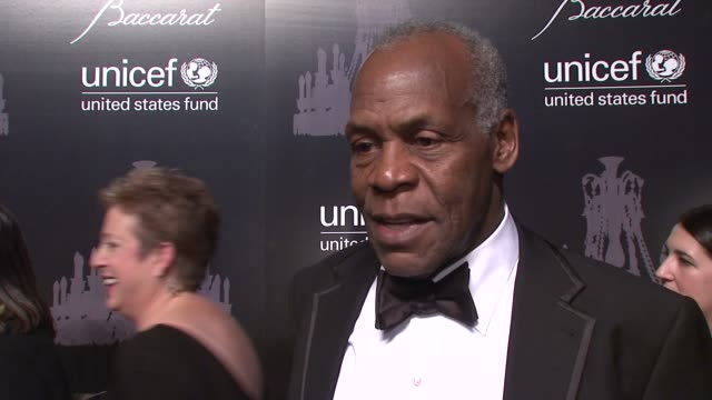 danny glover talks about the importance of the work unicef does at the ninth annual unicef snowflake ball at cipriani, wall street on in new york... - cipriani manhattan stock videos & royalty-free footage
