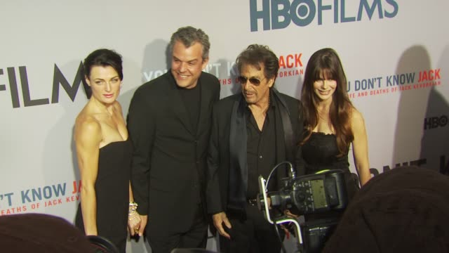Danny Huston Al Pacino Lucila Sola and guest at the HBO Film's 'You Don't Know Jack' New York Premiere at New York NY
