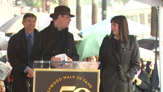 Danny Huston and Anjelica Huston at the Anjelica Huston Honored with a Star on the Hollywood Walk of Fame at Hollywood CA