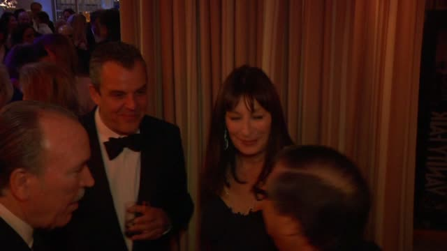 danny huston and anjelica huston at the inside the vanity fair oscar party 2010 at west hollywood ca - anjelica huston stock videos & royalty-free footage