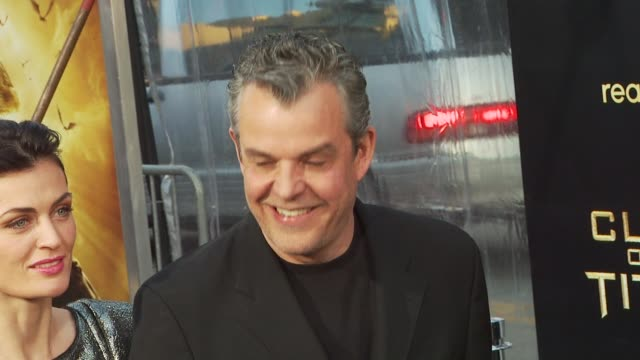 danny huston at the 'clash of the titans' premiere at hollywood ca - clash of the titans stock videos & royalty-free footage