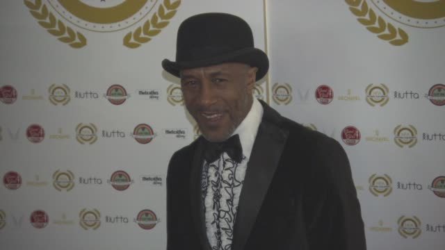 danny john-jules at national film awards at porchester hall on march 30, 2016 in london, england. - ポーチェスター点の映像素材/bロール