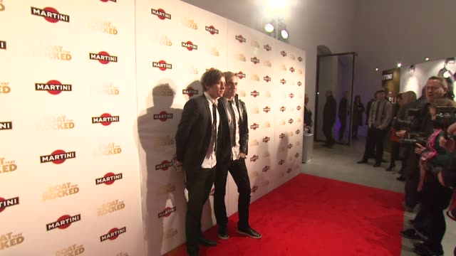 danny jones tom fletcher at the the boat that rocked martini premiere party at london - martini stock videos & royalty-free footage