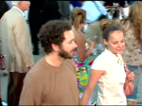 danny masterson and bijou phillips at the 'mr and mrs smith' world premiere at the mann village theatre in westwood, california on june 7, 2005. - bijou phillips stock videos & royalty-free footage