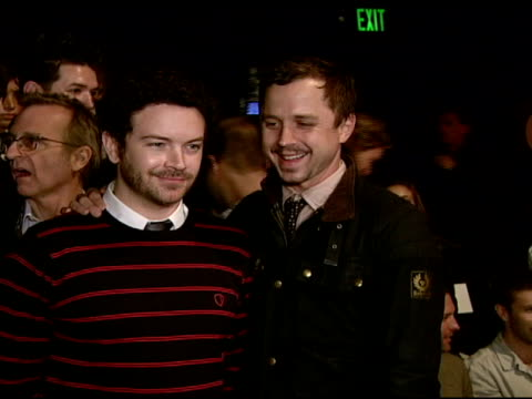danny masterson and giovanni ribisi at the whitley kros: mercedes-benz fashion week at smashbox studios in los angeles, california on march 9, 2008. - giovanni ribisi stock videos & royalty-free footage
