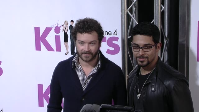 danny masterson and wilmer valderrama at the 'killers' premiere at hollywood ca - wilmer valderrama stock videos & royalty-free footage