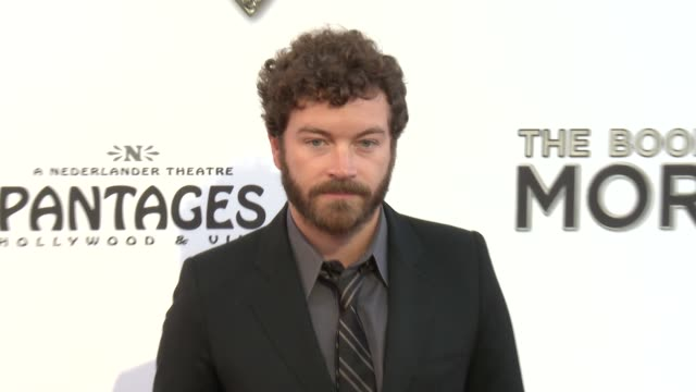 danny masterson at the book of mormon los angeles opening night on 9/12/12 in los angeles ca - mormonism stock videos & royalty-free footage