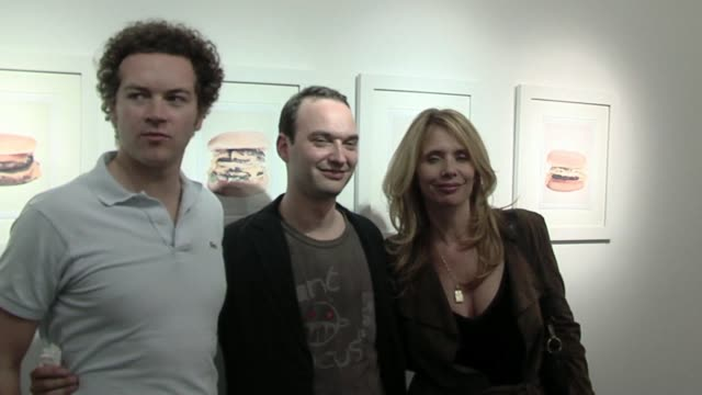 Danny Masterson Jeff Vespa and Rosanna Arquette at the Jeff Vespa's Eat Me Art Show Opening at the LoFi Gallery in Los Angeles California on May 4...