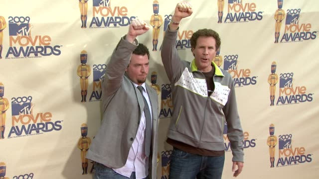 danny mcbride will ferrell at the 18th annual mtv movie awards at universal city ca - universal city video stock e b–roll