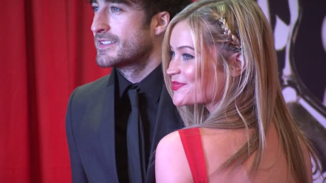 danny o'reilly and laura whitmore at the iftas at convention centre dublin, ireland on february 11th 2012 - irish film and television awards stock videos & royalty-free footage