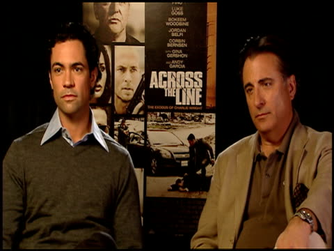 Danny Pino and Andy Garcia on filming on location at the 'Across The Line The Exodus Of Charlie Wright' Junket at Los Angeles CA