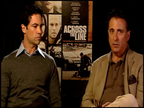 Danny Pino and Andy Garcia on the topical nature of the film at the 'Across The Line The Exodus Of Charlie Wright' Junket at Los Angeles CA