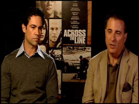 Danny Pino and Andy Garcia on why they wanted to be a part of the film at the 'Across The Line The Exodus Of Charlie Wright' Junket at Los Angeles CA