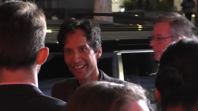 danny pudi signs for fans outside the mythic quest - raven's banquet premiere at arclight cinerama dome in hollywood in celebrity sightings in los... - cinerama dome hollywood stock videos & royalty-free footage