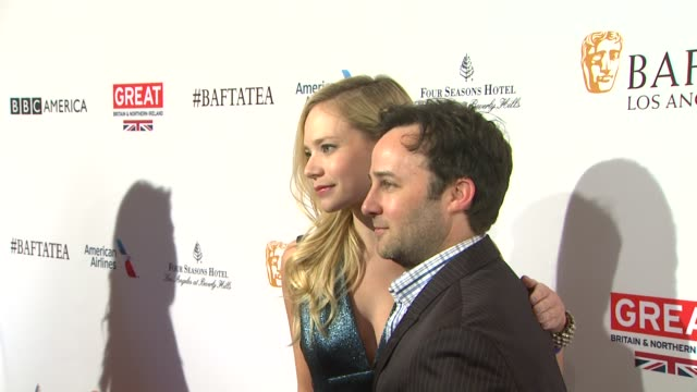 vídeos de stock, filmes e b-roll de danny strong and caitlin mehner at the bafta los angeles awards season tea party at four seasons hotel los angeles at beverly hills on january 09... - tea party