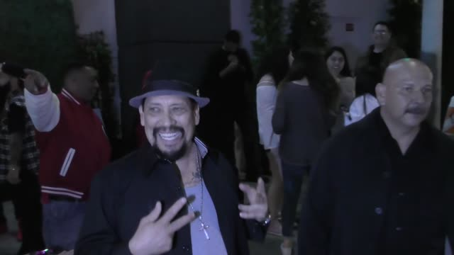 danny trejo talks about his new taco stand in hollywood outside tao nightclub in hollywood in celebrity sightings in los angeles, - taco stand stock videos & royalty-free footage