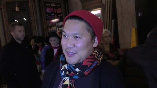 dante basco talks about how much of the 12 days of christmas that he remembers outside the king and i play at the pantages theatre in hollywood in... - basco video stock e b–roll