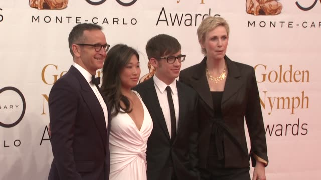Dante Di Loreto Jenna Ushkowitz Kevin McHale Jane Lynch at the 50th Monte Carlo TV Festival Closing Ceremony at MonteCarlo