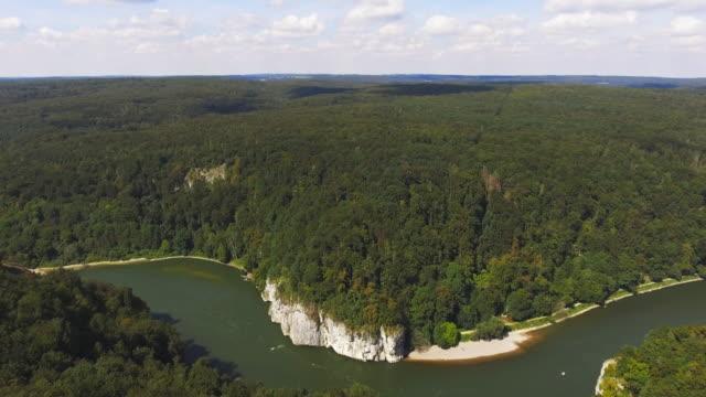 danube gorge (donaudurchbruch) near kelheim-weltenburg in bavaria - river danube stock videos & royalty-free footage