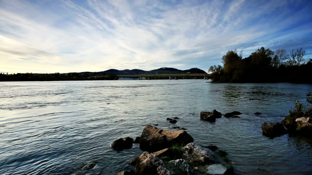 danube river in vienna - river danube stock videos & royalty-free footage