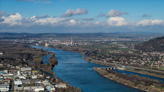 danube valley time lapse 4 k - lower austria stock-videos und b-roll-filmmaterial