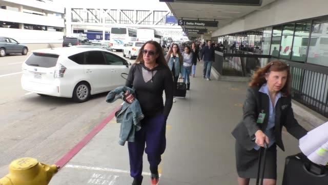 stockvideo's en b-roll-footage met dany garcia arriving at lax airport in los angeles in celebrity sightings in los angeles, - beroemdheden gespot