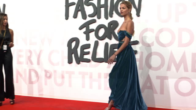 daphne groeneveld at fashion for relief fashion catwalk - the 71st cannes fillm festival at aeroport cannes mandelieu on may 13, 2018 in cannes,... - カンヌ・マンデリュー空港点の映像素材/bロール