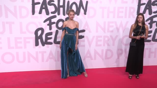 Daphne Groeneveld Hofit Golan Jussie Smollett and more on the red carpet of Fashion for Relief in Cannes Cannes France on Sunday May 13 2018