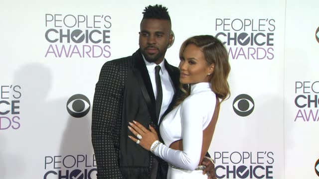 Daphne Joy and Jason Derulo at the People's Choice Awards 2016 at Nokia Plaza LA LIVE on January 6 2016 in Los Angeles California