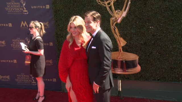 Daphne Oz and Dr Mehmet Oz at the 44th Annual Daytime Emmy Awards at Pasadena Civic Auditorium on April 30 2017 in Pasadena California