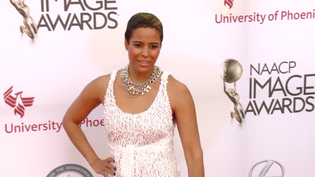 stockvideo's en b-roll-footage met daphne wayans at the 46th annual naacp image awards arrivals at pasadena civic auditorium on february 06 2015 in pasadena california - pasadena civic auditorium