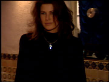 daphne zuniga at the 'interview with the vampire' premiere at the mann village theatre in westwood, california on november 9, 1994. - westwood neighborhood los angeles stock videos & royalty-free footage